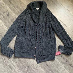NWT Merona Gray Cardigan Sweater Size Medium